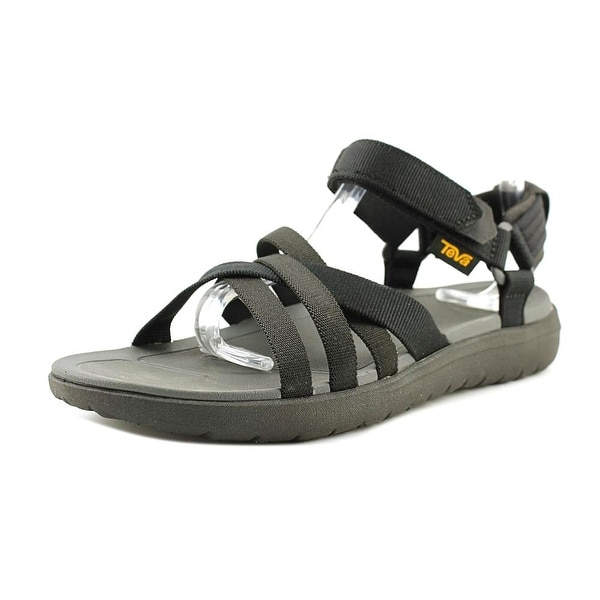 Teva Sanborn Women W Open-Toe Synthetic Black Sport Sandal