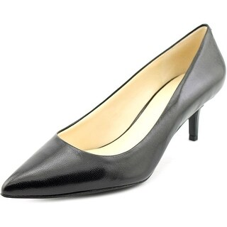 Nine West Xana Women Pointed Toe Leather Black Heels
