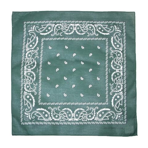 CTM® Cotton Paisley All-Purpose Bandanas (Pack of 5 of Same Color) - one size