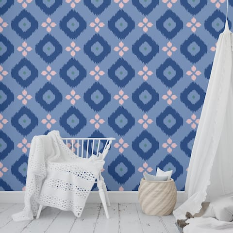 COTTON CANDY BLUE Peel and Stick Wallpaper By Kavka Designs - 2' x 16'