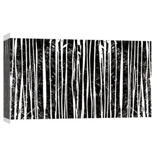 """PTM Images 9-103693  PTM Canvas Collection 8"""" x 10"""" - """"Starkly Lined D"""" Giclee Abstract Art Print on Canvas"""