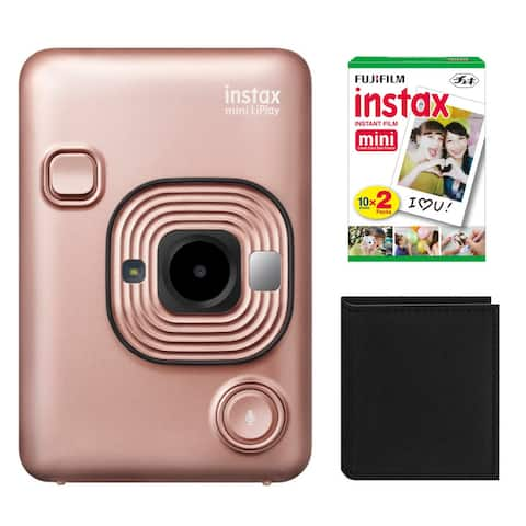 "Fujifilm Instax Mini Hybrid LiPLay Instant Camera with Double Pack - 5.78"" x 4.06"" x 3.39"""