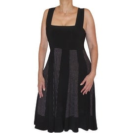 Funfash Plus Size Clothing Black Silver Bead Slimming Cocktail Dress Made in USA