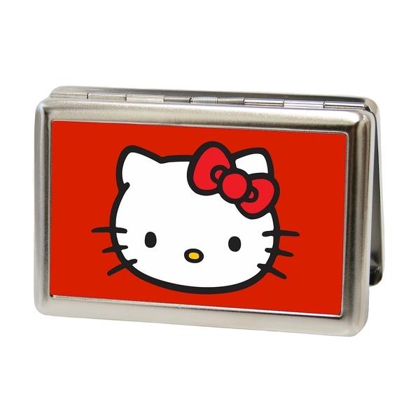 Shop hello kitty face fcg red business card holder free shipping hello kitty face fcg red business card holder reheart Choice Image
