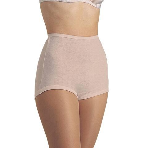 Teri Lingerie Women's Briefs - Cuff Leg 100% Cotton - 6 Pack - Beige