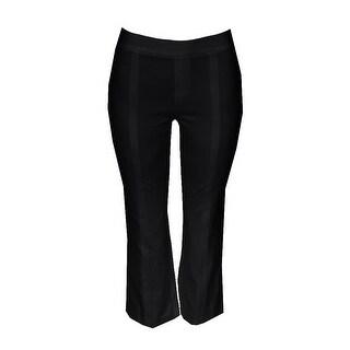 Inc International Concepts Black Wide-Leg Flared Trousers 0