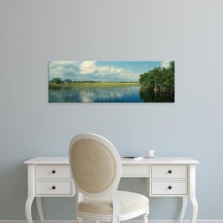 Easy Art Prints Panoramic Images's 'Reflection of clouds in water, Everglades National Park, Florida, USA' Canvas Art