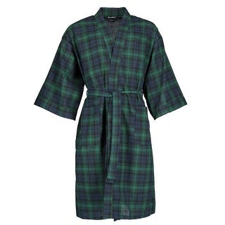 Leisureland Men's Plaid Broadcloth Robe