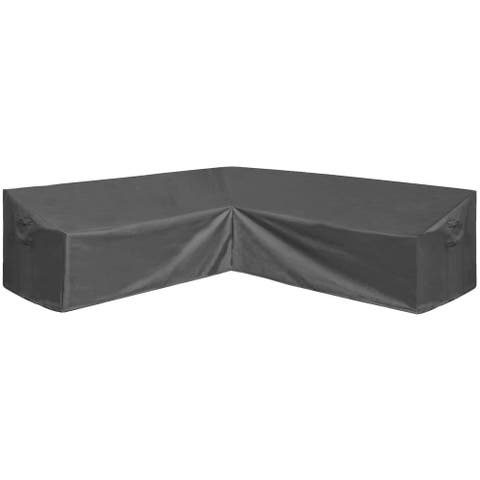 Patio V-Shaped Sectional Sofa Cover Garden Couch Protector