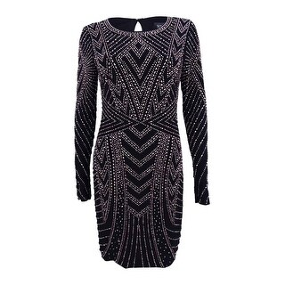 Xscape Women's Beaded Bodycon Dress - Black