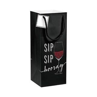 Group Sip Sip Hooray Wine Gift Bag with Tag, Pack of 12