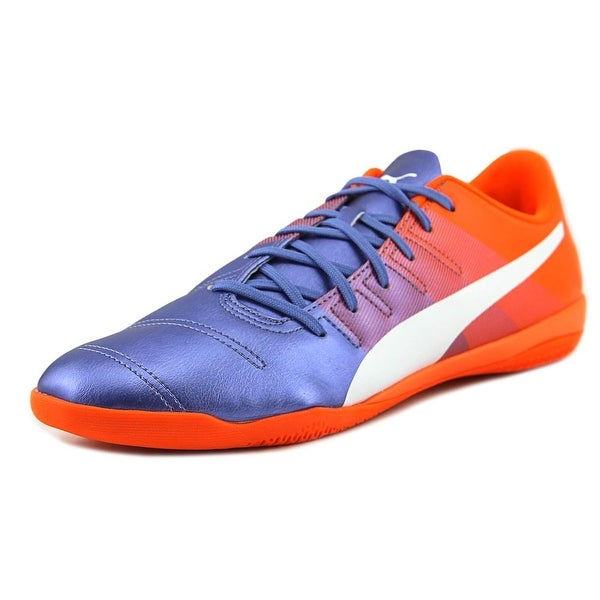 Puma EvoPower 4.3 IT Men Round Toe Leather Blue Sneakers