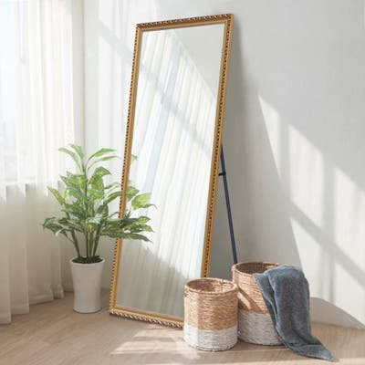 Copper Grove Limon 64-inch Retro Goldtone Full-length Floor Mirror - 64.17x21.26