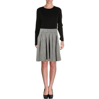 Lauren Ralph Lauren Womens Dress Wear to Work Dress Colorblock Pleated