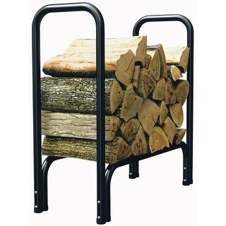 "Panacea 15215 Log Rack, 33"" x 24"" x 13"", Black"
