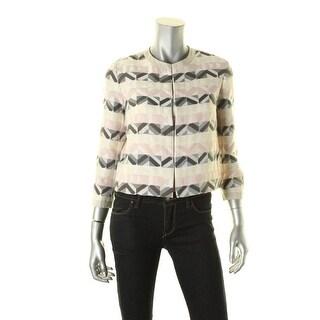 Weekend MaxMara Womens Blazer Textured Pattern