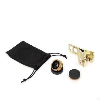 Ivation iPhone Camera Lens Kit for Smartphones - 180° Fisheye Lens, Macro Lens, Wide Angle Lens - Includes a Universal Clip