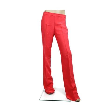 Gucci Flare Dress Coral Silk Pants 316023 6508