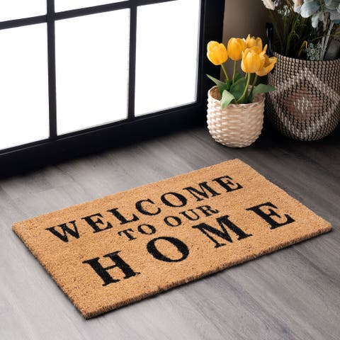 nuLOOM Coir Welcome Home Doormat