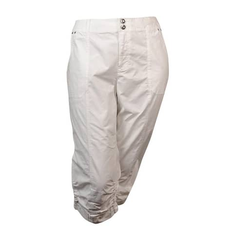 INC International Concepts Women's Ruched Cargo Pants