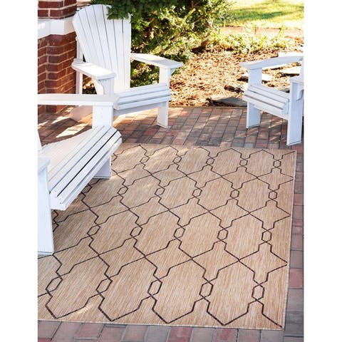 Unique Loom Outdoor Links Trellis Rug