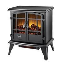 Comfort Glow EQS130 Keystone Quartz Electric Stove Heater - Black