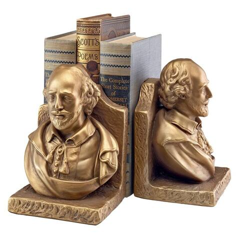 Design Toscano William Shakespeare, the Bard of Avalon Sculptural Bookends