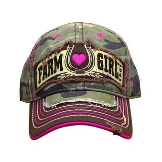 Farm Girl Western Hat Girls Lucky Shot Horseshoe Camo F83080658 - M/L