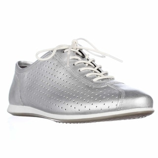 ECCO Footwear Touch Perforated Sneakers - Silver Metallic