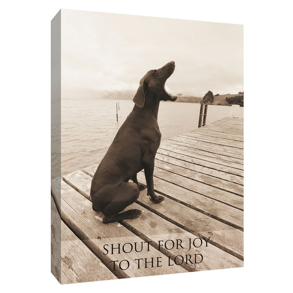 "PTM Images 9-154948 PTM Canvas Collection 10"" x 8"" - ""Shout for Joy - To the Lord"" Giclee Dogs Art Print on Canvas"