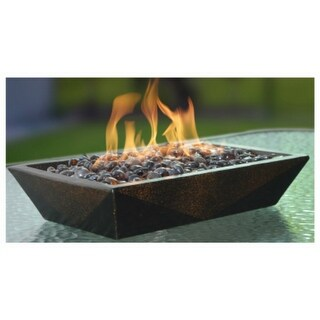 Bond 50660 Rectangle Steel Table Fire Pit with LavaGlass, Norite, 15000 BTU