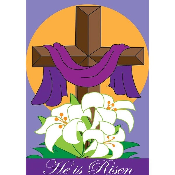 "13"" x 18"" ""He's the Reason"" Easter Cross Garden Flag - N/A"