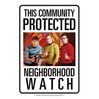 Star Trek Neighborhood Watch Tin Sign - Multi