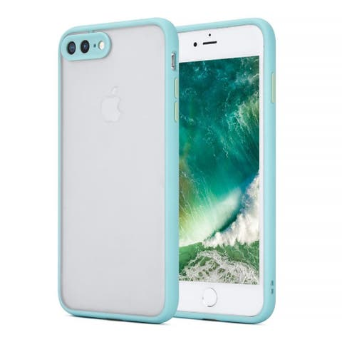For Apple iPhone 7 Plus/8 Plus Teal Frosted Camera Protector Case Acrylic Case
