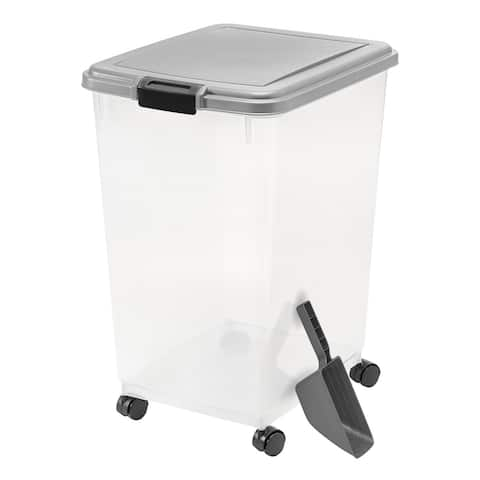55 lb. Airtight Pet Food Container in Chrome