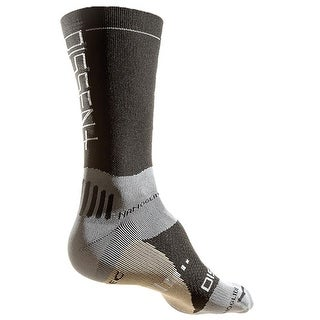 Dissent Supercrew Nano + Copper 8in Cycling Compression Socks - Black