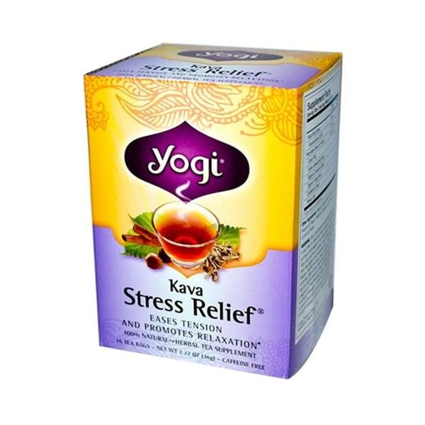 Kava Stress Relief Herbal Tea Caffeine Free 16 Bag Case Of 6