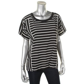 DKNY Womens Silk Striped Casual Top - M