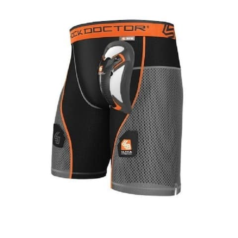Shock Doctor Hybrid Hockey Short with Ultra Carbon Flex Cup (XXL)