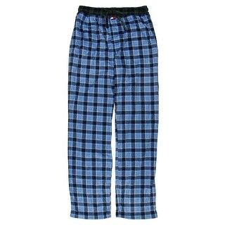 Tommy Hilfiger Mens Fleece Plaid Lounge Pants