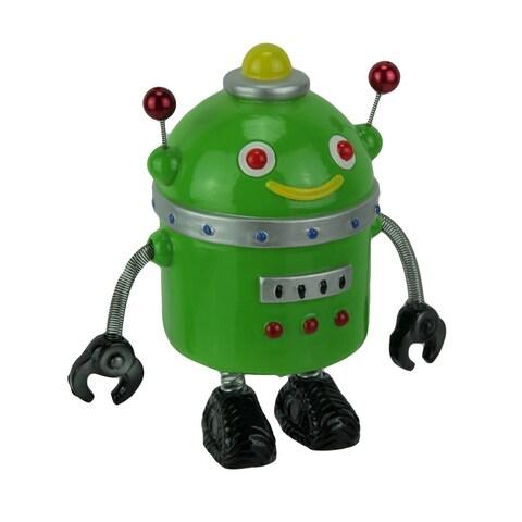 Spring Arm Retro Robot Coin Bank Money Box