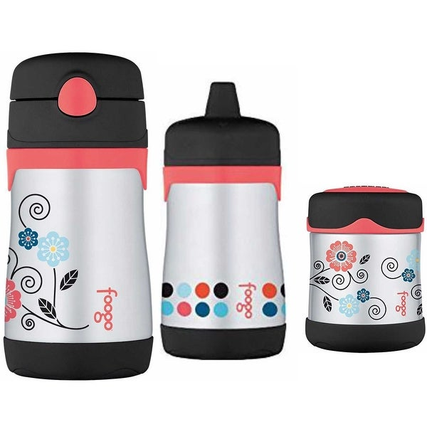 Thermos Foogo Insulated Food Jar and Travel Drink Bottle - Poppy Patch