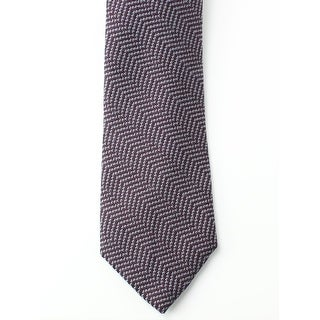Black Brown 1826 NEW Burgundy Men One Size Woven Wool Blend Neck Tie