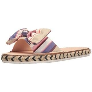 Kate Spade New York Womens Idalah Canvas Open Toe Beach Espadrille Sandals