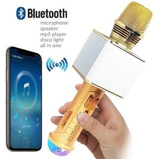 Bluetooth 4.0 Karaoke Microphone & Built-In Speaker & Disco LED Lights