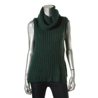 The Lane Womens Wool Blend Sleeveless Tunic Sweater
