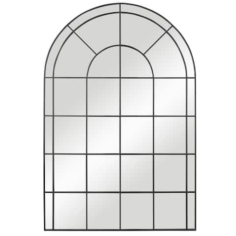 Uttermost Grantola Black Arch Iron Mirror