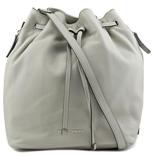 Vince Camuto Gabe Drawstring Bag Leather Hobo - gray