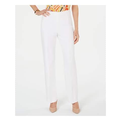 KASPER Womens White Wear to Work Pants Size 4