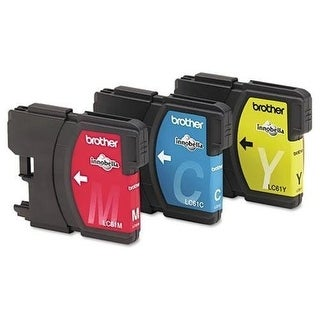 Brother Q77131M Brother LC61CL 3-Pack Ink Cartridge, 500 Page-Yield, Cyan Magenta Yellow